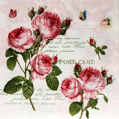 Салфетки для декупажа с розами