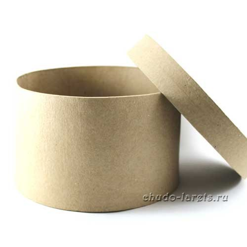 Круглая коробка из папье-маше