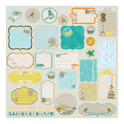 Чипборд Lady Bird Chipboard Stickers, размер 30,5 х 30,5 см, 28 шт