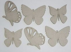 "Чипборд""Small Butterflies"" 6 шт/уп-ке, 3,7 х 4,2 см; 4,5 х 4,5 см; 5,2 х 4,5 см"