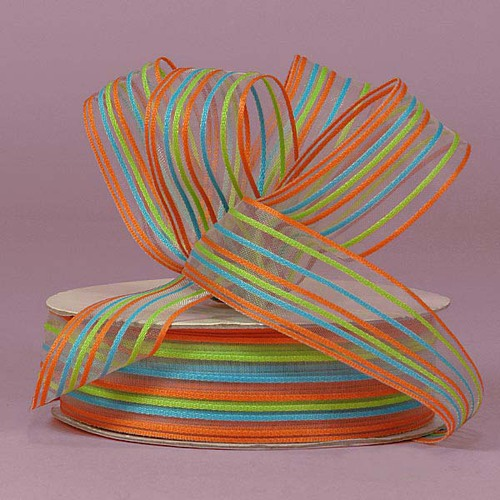 "Лента  в полоску Orange Brenda Striped Ribbon ― Интернет-магазин ""Чудо-Ларец"""