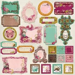 Чипборд - стикер Chipboard Sticker Sheet, Melody, размер 30,5 х 30,5 см