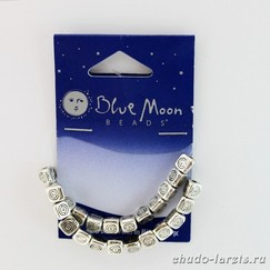 Коннекторы - разделители металлические Blue Moon Beads Metal , 3 грани, 5 мм, 24 шт/уп-ке