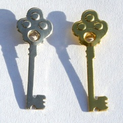 "Люверсы ""Ключи"" Skelaton Key Quicklets, 12 шт/уп-ке"