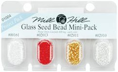 Бисер Mill Hill Glass Seed Beads Mini Packs 830мг 4шт/уп-ке, 00161, 02013, 02011, 02010