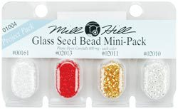 "Бисер Mill Hill Glass Seed Beads Mini Packs 830мг 4шт/уп-ке, 00161, 02013, 02011, 02010 ― Интернет-магазин ""Чудо-Ларец"""