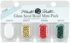 Бисер Mill Hill Glass Seed Beads Mini Packs 830 мг 4 шт/уп-ке, 00479, 00557, 00968, 00332