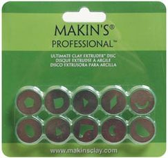 Набор дисков для экструдера Makin's Professional Ultimate Clay Extruder Discs 10 шт/уп-ке Set C
