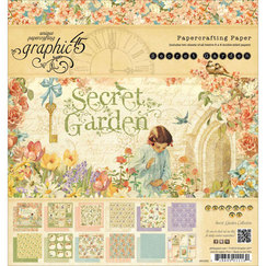 Набор бумаги Secret Garden Double-Sided Paper, 20 х 20 см, 24 листa