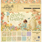 Набор бумаги Secret Garden Double-Sided Paper, 30,5 х 30,5 см, 12 листов