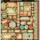 Кардсток - стикер 12 Days Of Christmas - Borders, Tags & Icons, размер 30,5 х 30,5 см