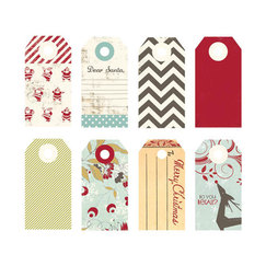Тэги Merry Little Christmas Decorative Tags, 8 шт/уп-ке, 3,5 х 7,5 см