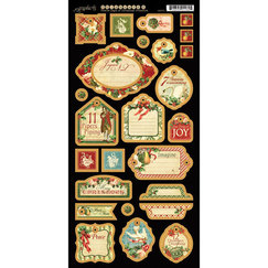 Вырубка12 Days Of Christmas Chipboard Die-Cuts - Tags 2, размер 15,0 х 30,5 см