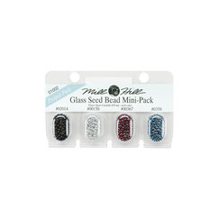 Бисер Mill Hill Glass Seed Beads Mini Packs 830 мг 4 шт/уп-ке, 02014, 00150, 00367, 00358