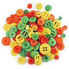 Пуговицы Jumbo Fashion Button Assortment - Tropical, 175 гр, 5 - 25 мм