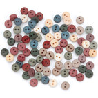 Пуговицы Tiny Country Buttons, 40 шт/уп-ке, диам. 5 мм