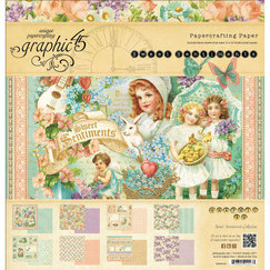 Набор бумаги Sweet Sentiments Double-Sided Paper, 30,5 х 30,5 см, 8 листов