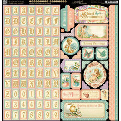 Cтикер Sweet Sentiments Cardstock Stickers, размер 30,5 х 30,5 см