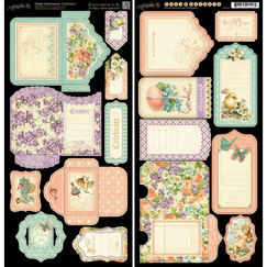 Вырубки Sweet Sentiments Cardstock Die-Cuts, лист 15,30 х 30,5 см 2 штуки