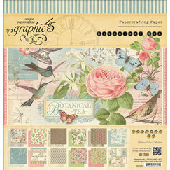 Набор бумаги Botanical Tea Double-Sided Paper, 30,5 х 30,5 см, 12 листов