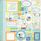 Стикер Baby Mine Boy Cardstock Stickers, 30,5, х 30,5 см