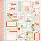 Стикер Baby Mine Girl Cardstock Stickers, 30,5, х 30,5 см