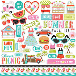 Стикер Summer Lovin' Cardstock Stickers, 30,5, х 30,5 см