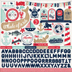 Кардсток - стикер Element Ahoy There Cardstock Stickers, размер 30,5 х 30,5 см