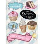 Чипборд The Sweet Life Chipboard Accents, 13,0 х 18,0 см