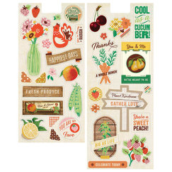 Чипборд Shapes Herbs & Honey Printed Self-Adhesive Chipboard, 13,0 х 23,0 см и 13, 0 х 30,0 см