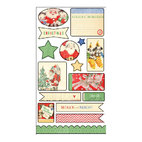 Чипборд новогодний Countdown To Christmas Cardstock Die-Cuts, 15,0 х 30,5 см