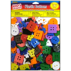 Пуговицы Darice Kids Plastic Kids Buttons Small 170 гр, пластик