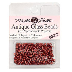 Бисер стекло Mill Hill Glass Seed Bead, 2,63 гр/уп-ке, цвет Antique Cranberry