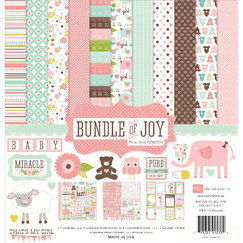 Набор бумаги Bundle Of Joy Girl, 12 листов, 30,5 х 30,5 см, украшения