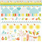 Кардсток - стикер Sunshine Cardstock Stickers, размер 30,5 х 30,5 см