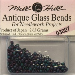 Бисер стекло Mill Hill Glass Seed Bead, 2,63 гр/уп-ке, цвет Antique Caspian Blue