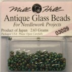 Бисер стекло Mill Hill Glass Seed Bead, 2,63 гр/уп-ке, цвет Antique Autumn Green