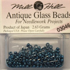 Бисер стекло Mill Hill Glass Seed Bead, 2,63 гр/уп-ке, цвет Antique Matte Cadet Blue