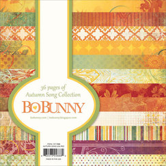 Набор бумаги Bo Bunny Autumn Song Paper Pad, 36 листов, 15 х 15 см