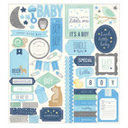 Стикер Phrase & Accent - Special Delivery Boy Cardstock Stickers, 2 штуки 15,0, х 30,0 см