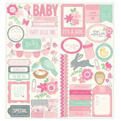 Стикер Phrase & Icon - Special Delivery Girl Cardstock Stickers, 2 штуки 15,0, х 30,0 см