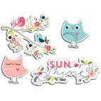 Вырубка из картона Sunshine - Welcome Spring Cardstock Die-Cuts, 12 шт/уп-ке