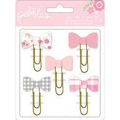 Скрепки Special Delivery Girl Paper Clips W/Bows, 30 х 35 мм , 5 шт/уп-ке, цвет розовый