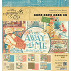 Набор бумаги Come Away With Me Graphic 45 Paper Pad, 20 х 20 см, 24 листa
