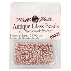 Бисер стекло Mill Hill Glass Seed Bead, 2,63 гр/уп-ке, цвет Antique Platinum Rose