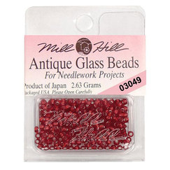 Бисер стекло Mill Hill Glass Seed Bead, 2,63 гр/уп-ке, цвет Antique Rich Red