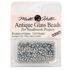 Бисер стекло Mill Hill Glass Seed Bead, 2,63 гр/уп-ке, цвет Antique Silver Moon