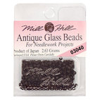 Бисер стекло Mill Hill Glass Seed Bead, 2,63 гр/уп-ке, цвет Antique Flat Black