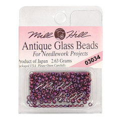Бисер стекло Mill Hill Glass Seed Bead, 2,63 гр/уп-ке, цвет Antique Royal Amethyst