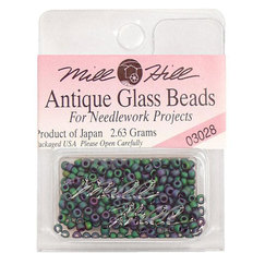 Бисер стекло Mill Hill Glass Seed Bead, 2,63 гр/уп-ке, цвет Antique Juniper Green